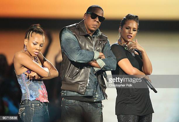 JayZ and Alicia Keys performs during the 2009 MTV Video Music Awards at Radio City Music Hall on September 13 2009 in New York City