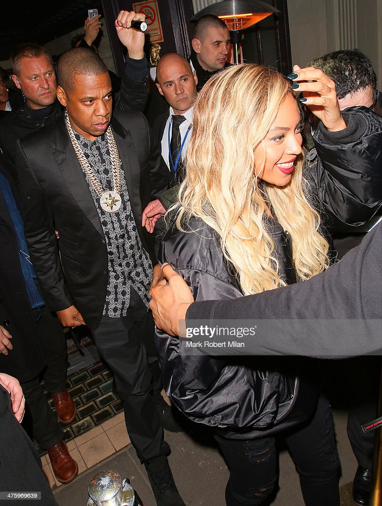 <a gi-track='captionPersonalityLinkClicked' href=/galleries/search?phrase=Jay-Z&family=editorial&specificpeople=201664 ng-click='$event.stopPropagation()'>Jay-Z</a> and Beyonce at Mason House night club on March 1, 2014 in London, England.