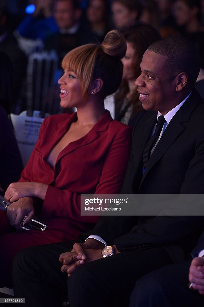Jay-Z and Beyonce attend the 2012 Sports Illustrated Sportsman of the Year award presentation at Espace on December 5, 2012 in New York City.