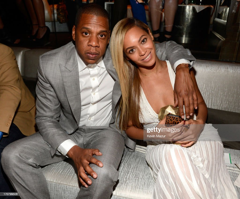 <a gi-track='captionPersonalityLinkClicked' href=/galleries/search?phrase=Jay-Z&family=editorial&specificpeople=201664 ng-click='$event.stopPropagation()'>Jay-Z</a> and Beyonce attend The 40/40 Club 10 Year Anniversary Party at 40 / 40 Club on June 17, 2013 in New York City.