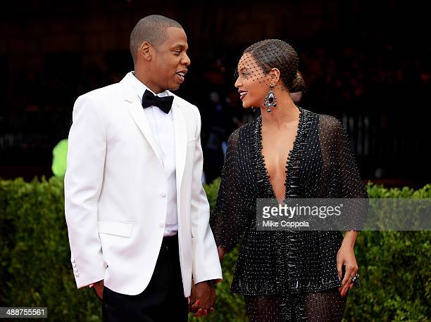 JayZ and Beyonce attend the 'Charles James Beyond Fashion' Costume Institute Gala at the Metropolitan Museum of Art on May 5 2014 in New York City