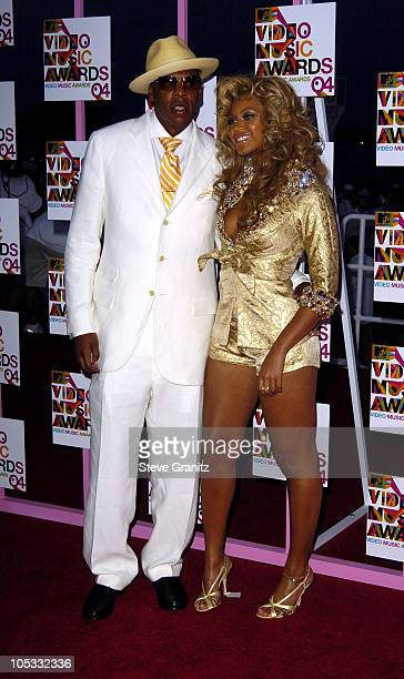 JayZ and Beyonce during 2004 MTV Video Music Awards Arrivals at American Airlines Arena in Miami Florida United States