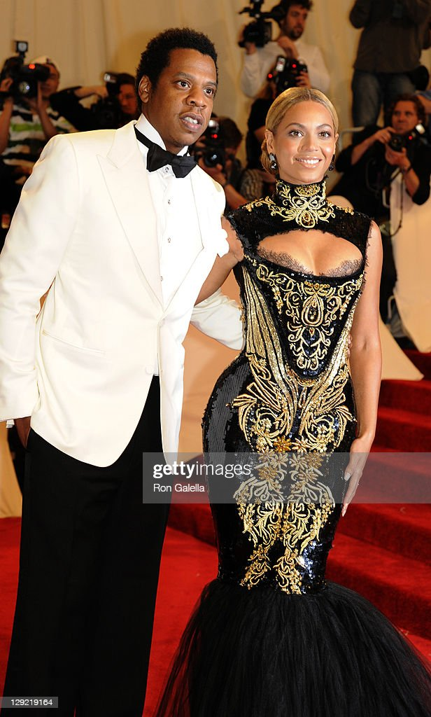 Jay-Z and Beyonce Knowles attend 'Alexander McQueen: Savage Beauty' Costume Institute Gala on April 2, 2011 at the Metropolitan Museum of Art in New York City.