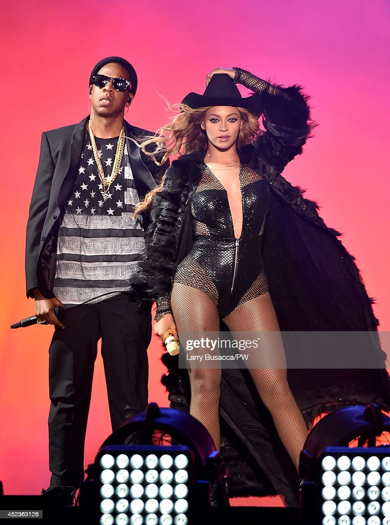 <a gi-track='captionPersonalityLinkClicked' href=/galleries/search?phrase=Jay-Z&family=editorial&specificpeople=201664 ng-click='$event.stopPropagation()'>Jay-Z</a> and Beyonce perform during the 'On The Run Tour: Beyonce And <a gi-track='captionPersonalityLinkClicked' href=/galleries/search?phrase=Jay-Z&family=editorial&specificpeople=201664 ng-click='$event.stopPropagation()'>Jay-Z</a>' at Minute Maid Park on July 18, 2014 in Houston, Texas.