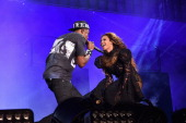 JayZ and Beyonce perform onstage during the 'On The Run Tour Beyonce And JayZ' at Soldier Field on July 24 2014 in Chicago Illinois