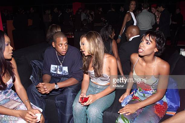 JayZ and Destiny's Child during Reception to celebrate the opening of 'Giorgio Armani Exhibition' which will run through January 17 2001 at the...