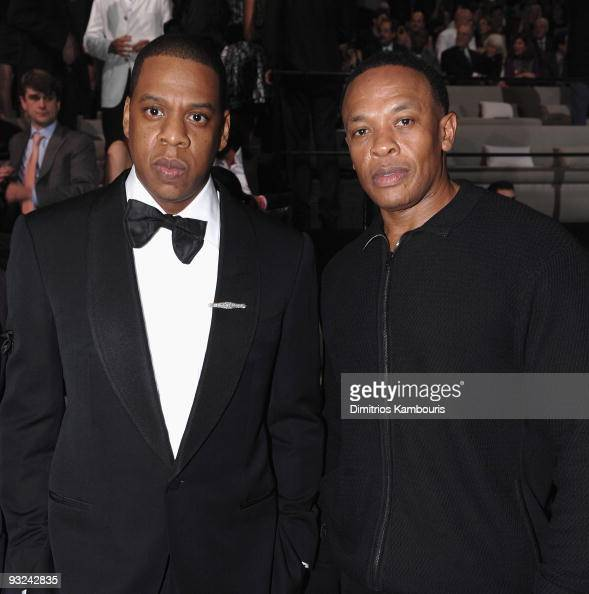 JayZ and Dr Dre attend the 2009 Victoria's Secret fashion show>> at The Armory on November 19 2009 in New York City