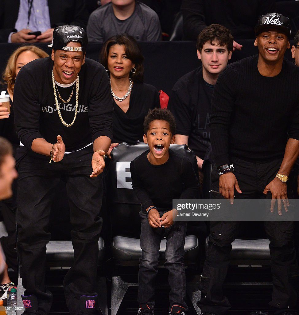 <a gi-track='captionPersonalityLinkClicked' href=/galleries/search?phrase=Jay-Z&family=editorial&specificpeople=201664 ng-click='$event.stopPropagation()'>Jay-Z</a> and guests attend the Chicago Bulls Vs Brooklyn Nets Playoff Game at the Barclays Center on April 20, 2013 in the Brooklyn borough of New York City.