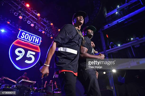JayZ and Memphis Bleek perform during TIDAL X JayZ Bsides in NYC on May 16 2015 in New York City