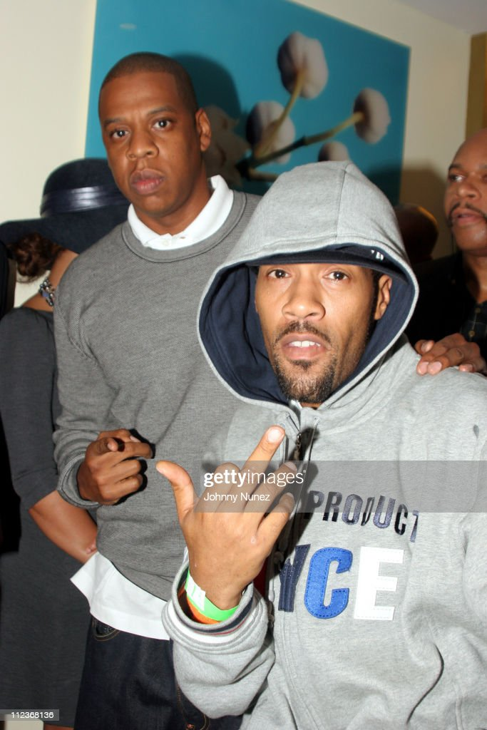 Jay-Z and Redman during Kevin Liles Celebrates the Release of His Book 'Make It Happen: The Hip-Hop Guide To Success' at Firmenich in New York, New York, United States.