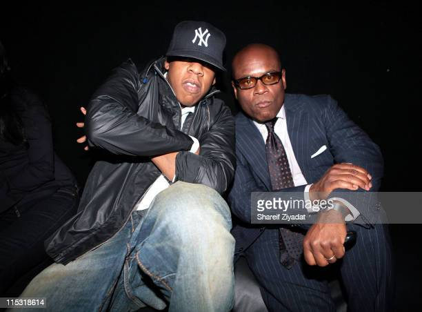 JayZ and LA Reid during Fabolous Listining Party May 8 2007 at Sony Studio in New York City New York United States