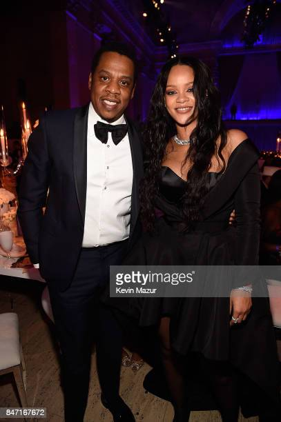 JayZ and Rihanna attend Rihanna's 3rd Annual Diamond Ball Benefitting The Clara Lionel Foundation at Cipriani Wall Street on September 14 2017 in New...
