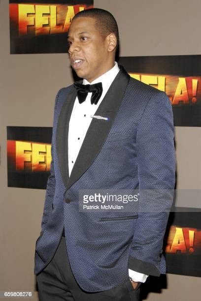 JayZ attends Opening Night Arrivals of FELA at The Eugene O'Neill Theatre on November 23 2009 in New York City