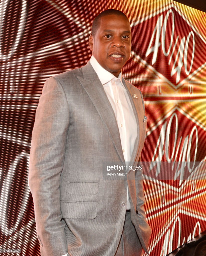<a gi-track='captionPersonalityLinkClicked' href=/galleries/search?phrase=Jay-Z&family=editorial&specificpeople=201664 ng-click='$event.stopPropagation()'>Jay-Z</a> attends The 40/40 Club 10 Year Anniversary Party at 40 / 40 Club on June 17, 2013 in New York City.