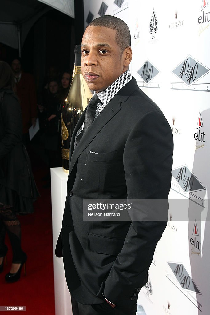 Jay-Z attends the grand re-opening of his 40/40 Club on January 18, 2012 in New York City.