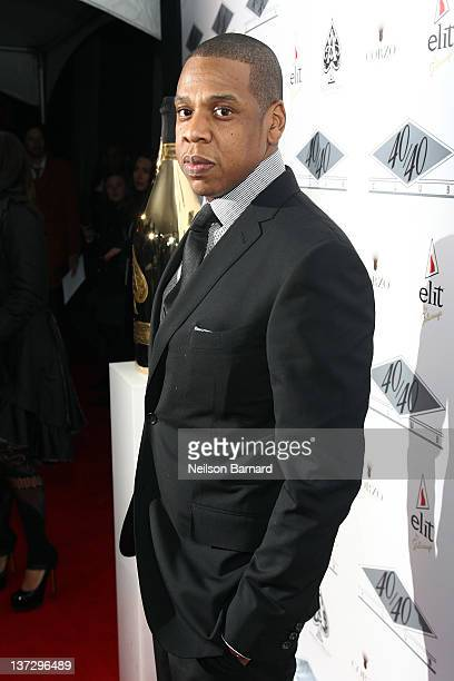 JayZ attends the grand reopening of his 40/40 Club on January 18 2012 in New York City