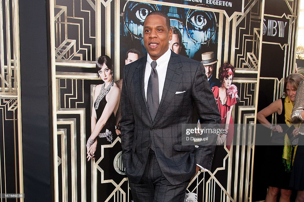 <a gi-track='captionPersonalityLinkClicked' href=/galleries/search?phrase=Jay-Z&family=editorial&specificpeople=201664 ng-click='$event.stopPropagation()'>Jay-Z</a> attends 'The Great Gatsby' world premiere at Alice Tully Hall at Lincoln Center on May 1, 2013 in New York City.