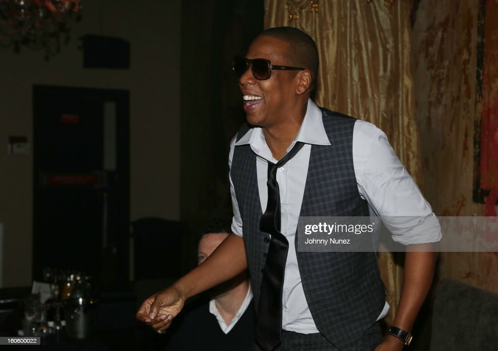 Jay-Z attends the Jay-Z & D'Usse Super Bowl Party at The Republic on February 2, 2013 in New Orleans, Louisiana.