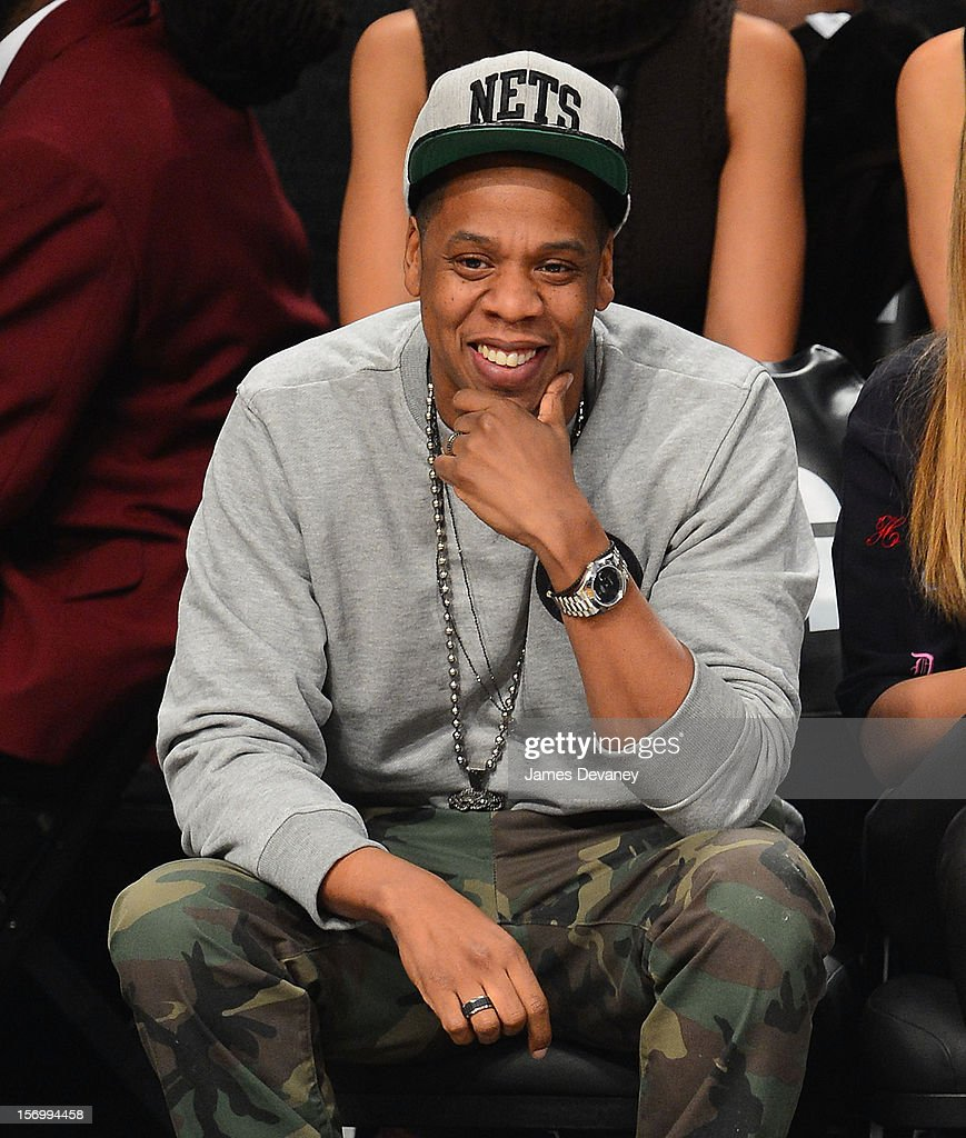 Jay-Z attends the New York Knicks vs Brooklyn Nets game at Barclays Center on November 26, 2012 in the Brooklyn borough of New York City.