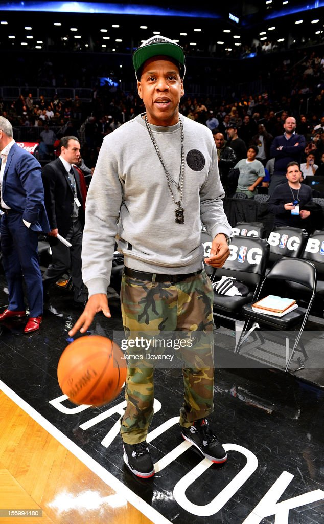 <a gi-track='captionPersonalityLinkClicked' href=/galleries/search?phrase=Jay-Z&family=editorial&specificpeople=201664 ng-click='$event.stopPropagation()'>Jay-Z</a> attends the New York Knicks vs Brooklyn Nets game at Barclays Center on November 26, 2012 in the Brooklyn borough of New York City.