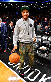 JayZ attends the New York Knicks vs Brooklyn Nets game at Barclays Center on November 26 2012 in the Brooklyn borough of New York City