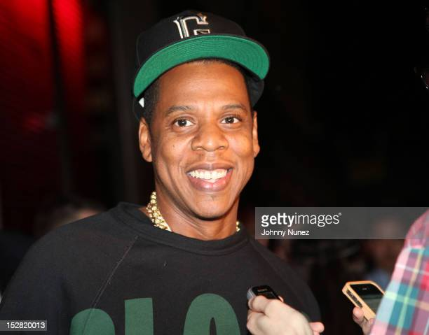 JayZ attends the Premiere Of NBA 2K13 With Cover Athletes And NBA Superstars at 40 / 40 Club on September 26 2012 in New York City