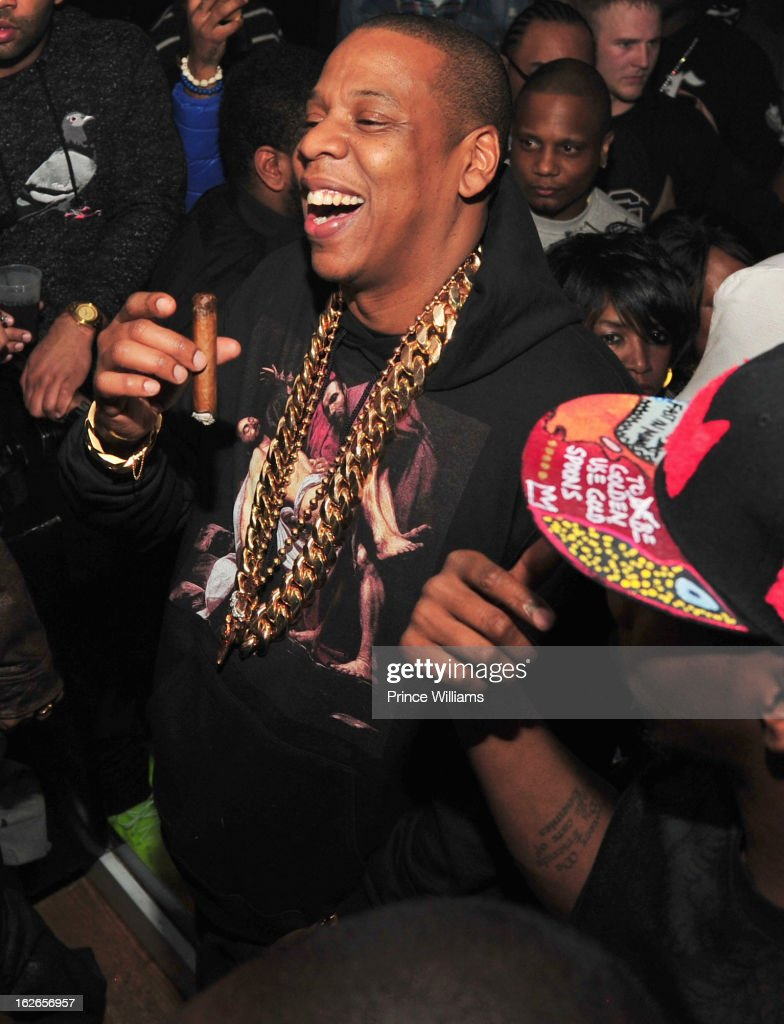 <a gi-track='captionPersonalityLinkClicked' href=/galleries/search?phrase=Jay-Z&family=editorial&specificpeople=201664 ng-click='$event.stopPropagation()'>Jay-Z</a> attends the So So Def anniversary party hosted by Jay Z at Compound on February 23, 2013 in Atlanta, Georgia.