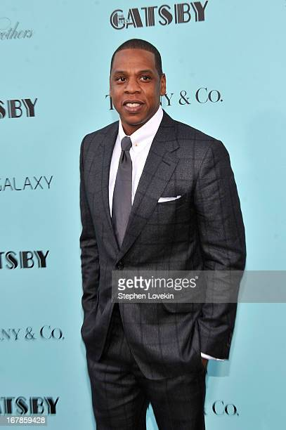 JayZ attends the 'The Great Gatsby' world premiere at Avery Fisher Hall at Lincoln Center for the Performing Arts on May 1 2013 in New York City