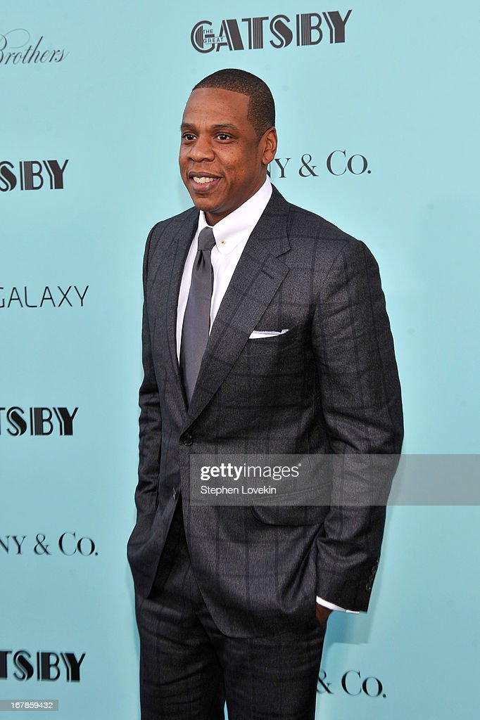 Jay-Z attends the 'The Great Gatsby' world premiere at Avery Fisher Hall at Lincoln Center for the Performing Arts on May 1, 2013 in New York City.
