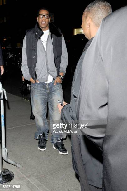 JayZ attends TOPSHOP TOPMAN HOSTS PRIVATE DINNER TO CELEBRATE FLAGSHIP STORE OPENING at Balthazar on March 31 2009 in New York City