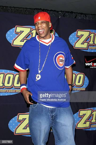 JayZ backstage at the Z100 Jingle Ball 2001 at Madison Square Garden in New York City Thursday December 13 2001 Photo by Frank Micelotta/ImageDirect