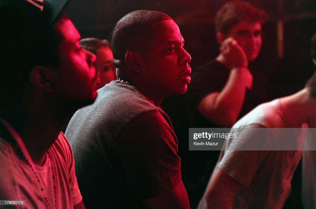 Jay-Z backstage during the 2013 Budweiser Made In America Festival at Benjamin Franklin Parkway on September 1, 2013 in Philadelphia, Pennsylvania.