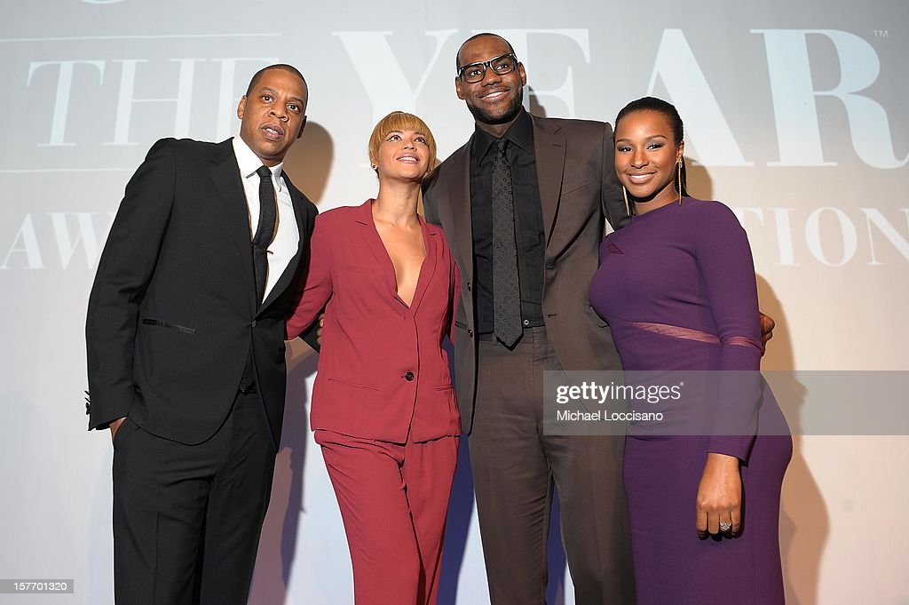 Jay-Z, Beyonce, 2012 Sportsman of the Year LeBron James, and Savannah Brinson attend the 2012 Sports Illustrated Sportsman of the Year award presentation at Espace on December 5, 2012 in New York City.
