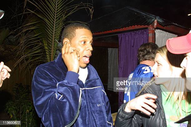 JayZ during Emporio Armani GQ Dupont Registry and Derek Jeter Host Exclusive Super Bowl XXXV Bash at Rain Lounge in Tampa Florida United States
