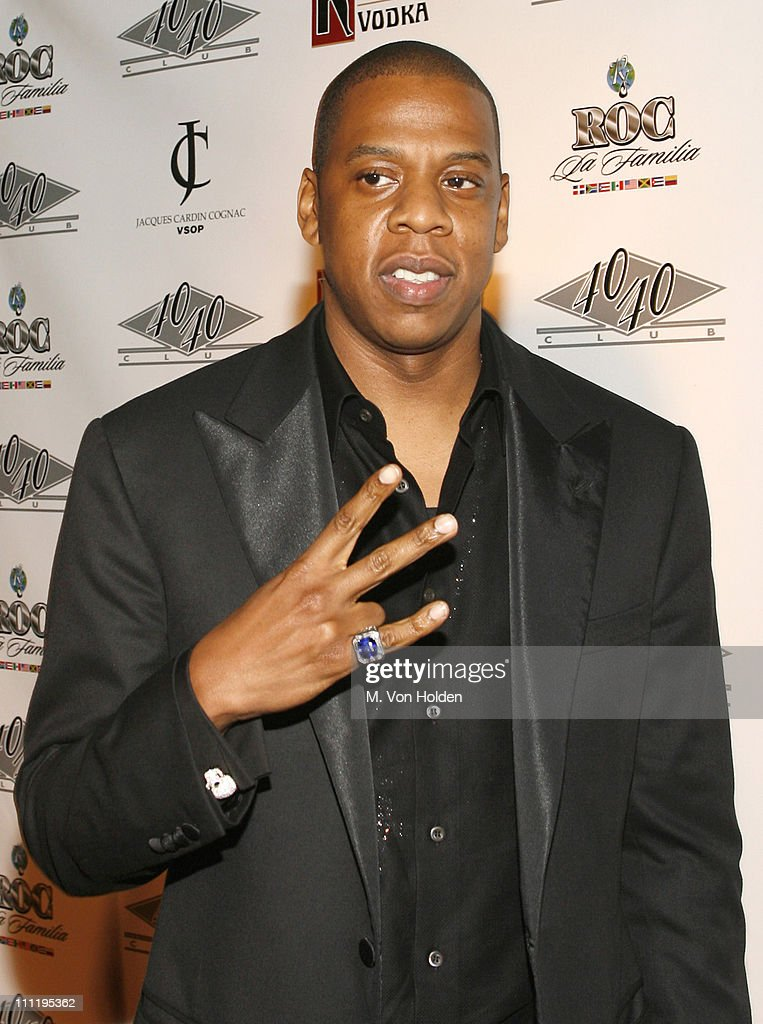 JayZ during JayZ Celebrates the OneYear Anniversary of the 40/40 Club Arrivals at 40/40 Club in Atlantic City New Jersey United States