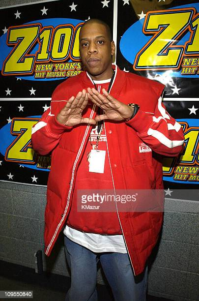 JayZ during Z100's Jingle Ball 2002 Backstage at Madison Square Garden in New York City New York United States