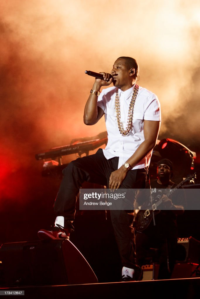 <a gi-track='captionPersonalityLinkClicked' href=/galleries/search?phrase=Jay-Z&family=editorial&specificpeople=201664 ng-click='$event.stopPropagation()'>Jay-Z</a> headlines on Day 2 of Yahoo Wireless Festival 2013 at Queen Elizabeth Olympic Park on July 13, 2013 in London, England.