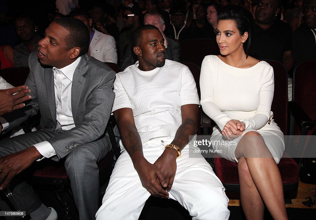 <a gi-track='captionPersonalityLinkClicked' href=/galleries/search?phrase=Jay-Z&family=editorial&specificpeople=201664 ng-click='$event.stopPropagation()'>Jay-Z</a>, <a gi-track='captionPersonalityLinkClicked' href=/galleries/search?phrase=Kanye+West+-+Musician&family=editorial&specificpeople=201803 ng-click='$event.stopPropagation()'>Kanye West</a>, and <a gi-track='captionPersonalityLinkClicked' href=/galleries/search?phrase=Kim+Kardashian&family=editorial&specificpeople=753387 ng-click='$event.stopPropagation()'>Kim Kardashian</a> attend the 2012 BET Awards at The Shrine Auditorium on July 1, 2012 in Los Angeles, California.