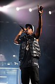 JayZ performs at Barclays Center of Brooklyn on September 28 2012 in New York City