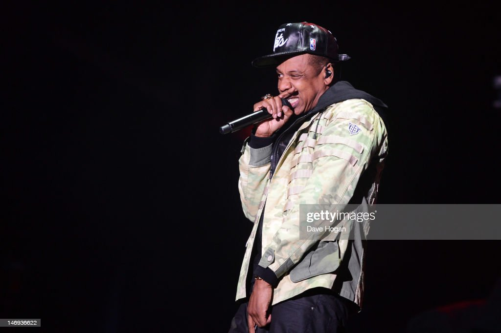 <a gi-track='captionPersonalityLinkClicked' href=/galleries/search?phrase=Jay-Z&family=editorial&specificpeople=201664 ng-click='$event.stopPropagation()'>Jay-Z</a> performs at day 1 of the BBC Radio 1 Hackney Weekend 2012 at Hackney Marshes on June 23, 2012 in London, England.