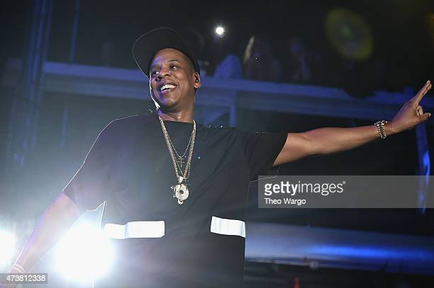 JayZ performs during TIDAL X JayZ Bsides in NYC on May 17 2015 in New York City