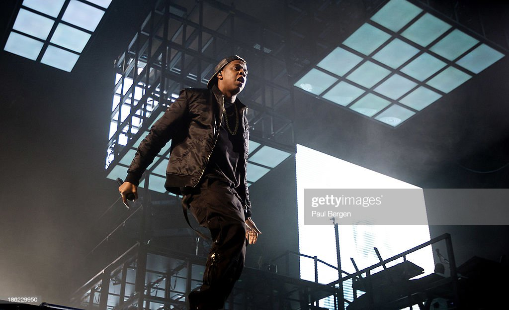 <a gi-track='captionPersonalityLinkClicked' href=/galleries/search?phrase=Jay-Z&family=editorial&specificpeople=201664 ng-click='$event.stopPropagation()'>Jay-Z</a> performs on stage at Ziggo Dome on October 29, 2013 in Amsterdam, Netherlands.