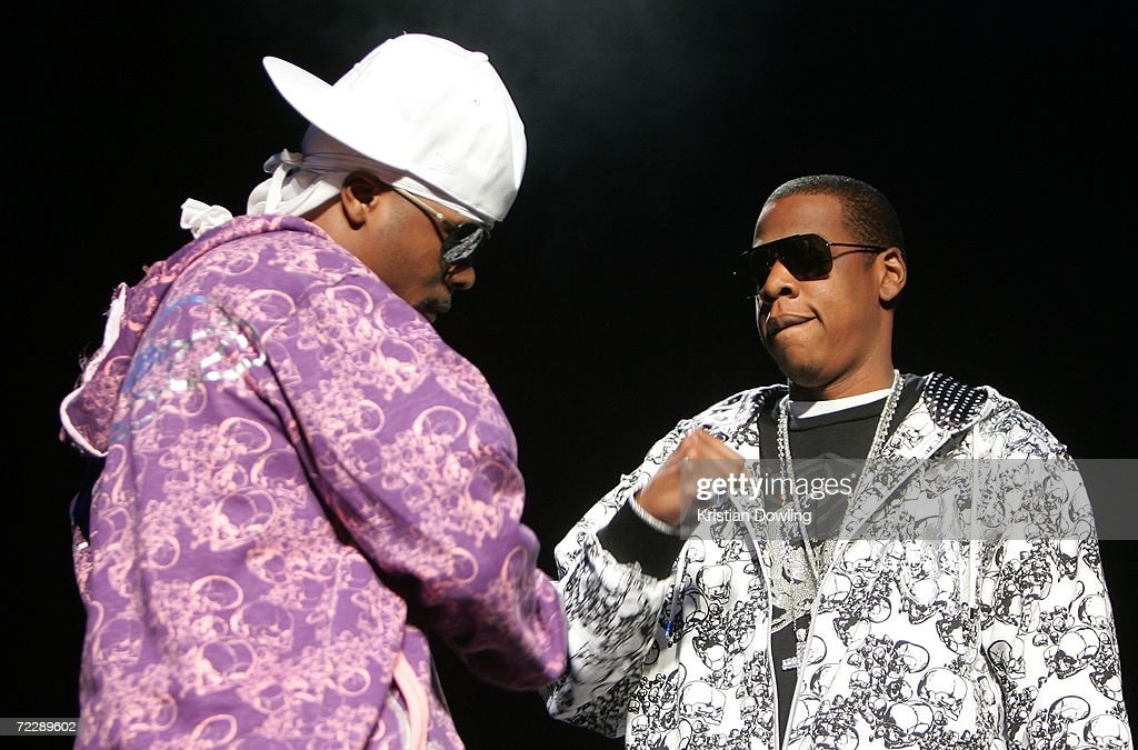 <a gi-track='captionPersonalityLinkClicked' href=/galleries/search?phrase=Jay-Z&family=editorial&specificpeople=201664 ng-click='$event.stopPropagation()'>Jay-Z</a> performs with Memphis Bleek during his 'Rock tha Block' tour at Rod Laver Arena October 28, 2006 in Melbourne, Australia.
