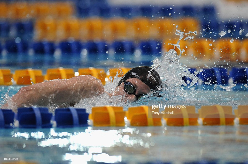 Jazmin Carlin of Swansea University in action in her heat of the Women's Open 400m Freestyle during The British Gas International Swimming Meet at John Charles Centre for Sport on March 10, 2013 in Leeds, England.