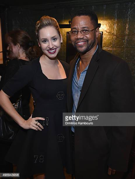Jazmin Grace Grimaldi and Cuba Gooding Jr attend the the after party for the 'Spectre' prerelease screening hosted by Champagne Bollinger and The...