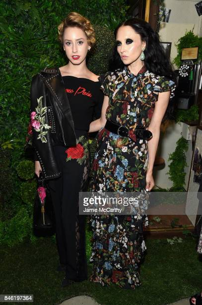Jazmin Grace Grimaldi and Designer Stacey Bendet attend Alice Olivia By Stacey Bendet fashion show during September 2017 New York Fashion Week The...