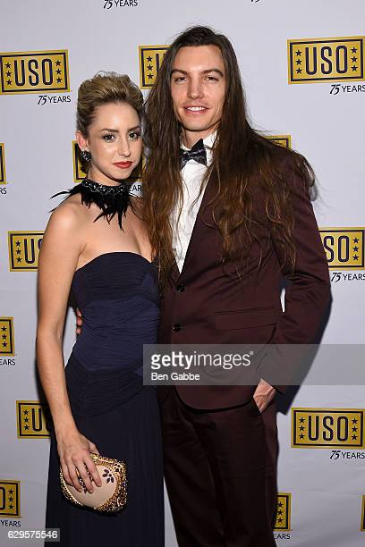 Jazmin Grace Grimaldi and musician Ian Mellencamp attend the 75th Anniversary USO Armed Forces Gala at Marriott Marquis Hotel on December 13 2016 in...