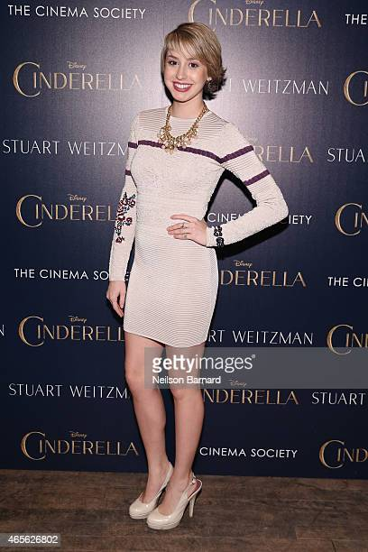 Jazmin Grace Grimaldi attends a screening of Disney's 'Cinderella' hosted by The Cinema Society And Stuart Weitzman>> at Tribeca Grand Hotel on March...