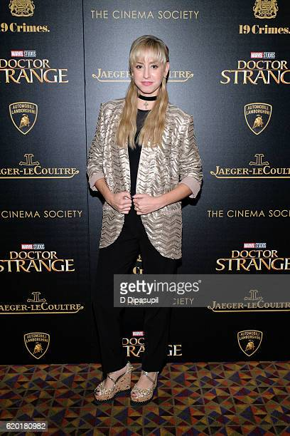 Jazmin Grace Grimaldi attends a screening of Marvel Studios' 'Doctor Strange' hosted by Lamborghini with The Cinema Society JaegerLeCoultre and 19...
