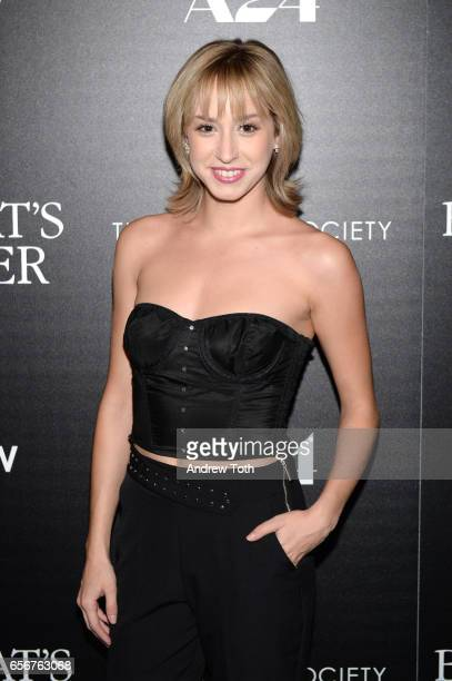 Jazmin Grace Grimaldi attends a screening of 'The Blackcoat's Daughter' hosted by A24 and DirecTV with The Cinema Society at Landmark Sunshine Cinema...